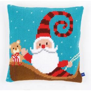 Счастливый Санта Набор для вышивания подушки VERVACO