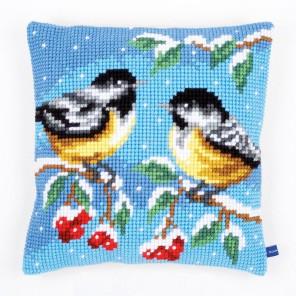 Синички зимой Набор для вышивания подушки VERVACO