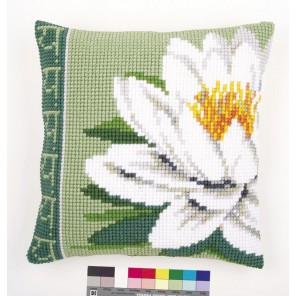 Белый лотос Набор для вышивания подушки VERVACO