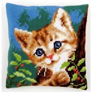 Кот за деревом Набор для вышивания подушки VERVACO
