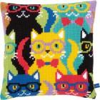 Забавные кошки Набор для вышивания подушки VERVACO