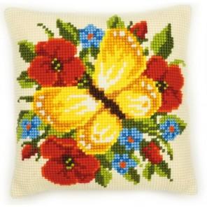Жёлтая бабочка Набор для вышивания подушки VERVACO