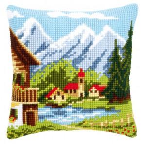 Деревушка в Альпах Набор для вышивания подушки VERVACO