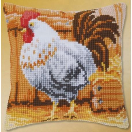 Петух Набор для вышивания подушки VERVACO