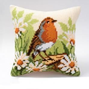 Птичка Набор для вышивания подушки VERVACO