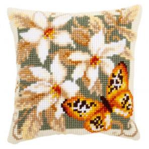 Оранжевая бабочка Набор для вышивания подушки VERVACO