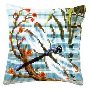 Стрекоза Набор для вышивания подушки VERVACO