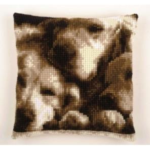 Спящие собаки Набор для вышивания подушки VERVACO
