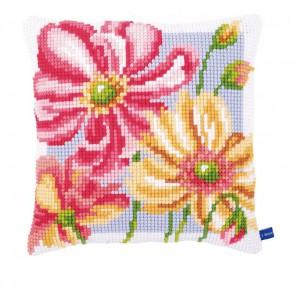 Красочные цветы Набор для вышивания подушки VERVACO
