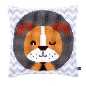 Подмигивающий щенок Набор для вышивания подушки VERVACO