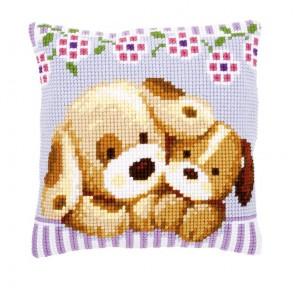 Собачки Набор для вышивания подушки VERVACO