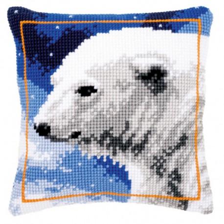 Полярный медведь Набор для вышивания подушки VERVACO