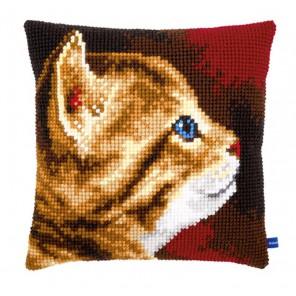 Котенок I Набор для вышивания подушки VERVACO