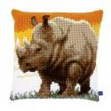 Африканский носорог Набор для вышивания подушки VERVACO