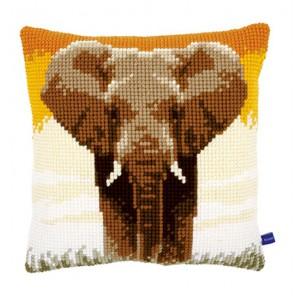 Слон в саванне I Набор для вышивания подушки VERVACO