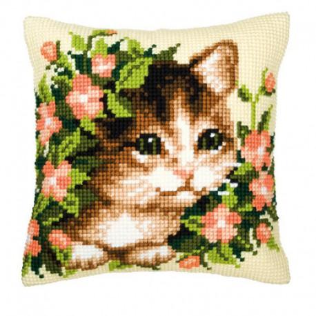 Котенок Набор для вышивания подушки VERVACO
