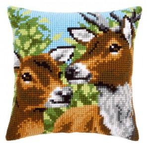 Олени Набор для вышивания подушки VERVACO