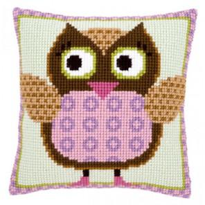 Госпожа Сова Набор для вышивания подушки VERVACO