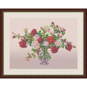 Букет роз Набор для вышивания бисером GALLA COLLECTION