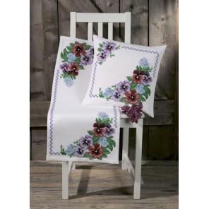 Фиалки Набор для вышивания подушки PERMIN