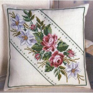 Цветы Набор для вышивания подушки PERMIN