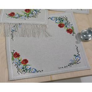Весенние цветы Набор для вышивания скатерти PERMIN