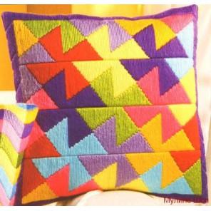Цветные мельницы Набор для вышивания подушки VERVACO
