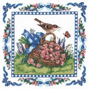 Весенний дрозд Набор для вышивания подушки CANDAMAR DESIGNS