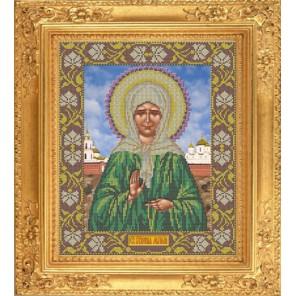 Матрона Московская Набор для вышивания бисером Икона GALLA COLLECTION