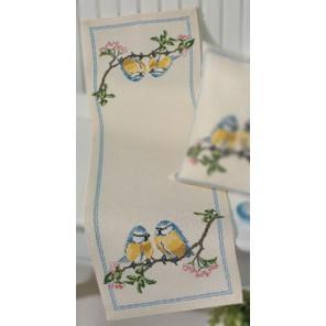 Птички Набор для вышивания дорожки PERMIN