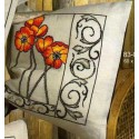 Маки Набор для вышивания подушки PERMIN