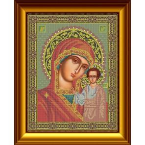Казанская Набор для вышивания бисером Икона GALLA COLLECTION