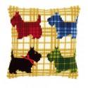 Цветные собачки Набор для вышивания подушки VERVACO