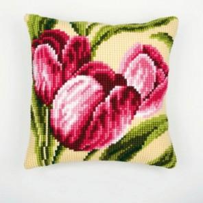 Тюльпаны Набор для вышивания подушки VERVACO