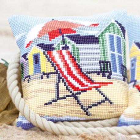 На пляже Набор для вышивания подушки VERVACO