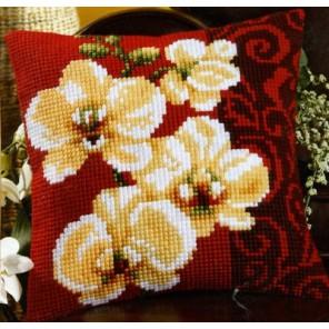 Белая орхидея Набор для вышивания подушки VERVACO