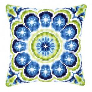 Сине-зеленая розетка Набор для вышивания подушки VERVACO