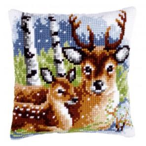 Семья оленей Набор для вышивания подушки VERVACO