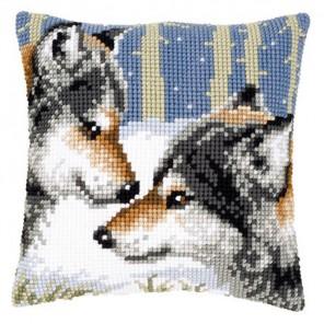 Волки Набор для вышивания подушки VERVACO