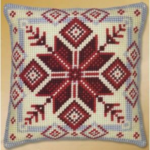 Норвежская снежинка Набор для вышивания подушки VERVACO