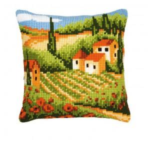 Тоскана Набор для вышивания подушки VERVACO