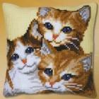 Три котёнка Набор для вышивания подушки VERVACO