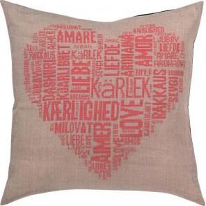 Любовь, розовый Набор для вышивания подушки PERMIN