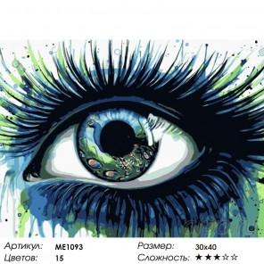 Количество цветов и сложность Павлиний глаз Раскраска картина по номерам на холсте Menglei ME1093