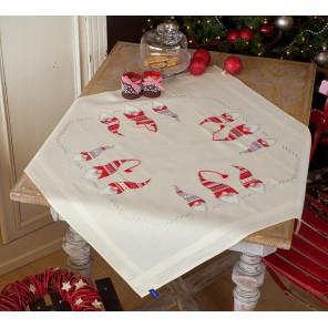 Рождественские гномы Набор для вышивания скатерти VERVACO