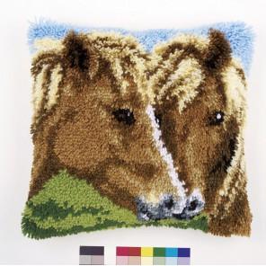 Лошади Набор для вышивания подушки VERVACO