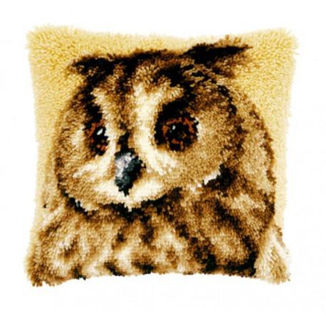 Коричневая сова Набор для вышивания подушки VERVACO