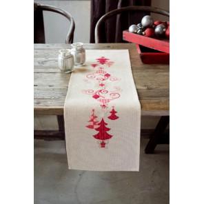 Красные рождественские украшения Набор для вышивания дорожки VERVACO