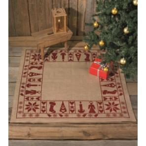 Дух Рождества Набор для вышивания коврика под ёлку PERMIN