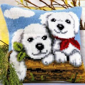 Два дружка Набор для вышивания подушки VERVACO
